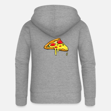 Partner Piece - Fast Food - pizza salami partner shirt - Women's Premium Zip Hoodie