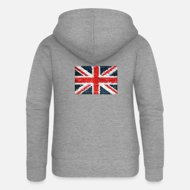 Jack Union Jack Brick Wall - Women's Premium Zip Hoodie