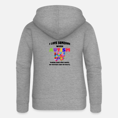 Equalizer I Love Someone With Autism Autism Awareness - Women's Premium Zip Hoodie