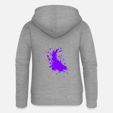 Paint Splatter Splatter paint splashes Abstract - Women's Premium Zip Hoodie