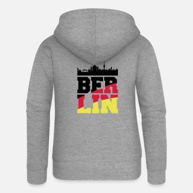 Germany berlin skyline2 - Frauen Premium Kapuzenjacke