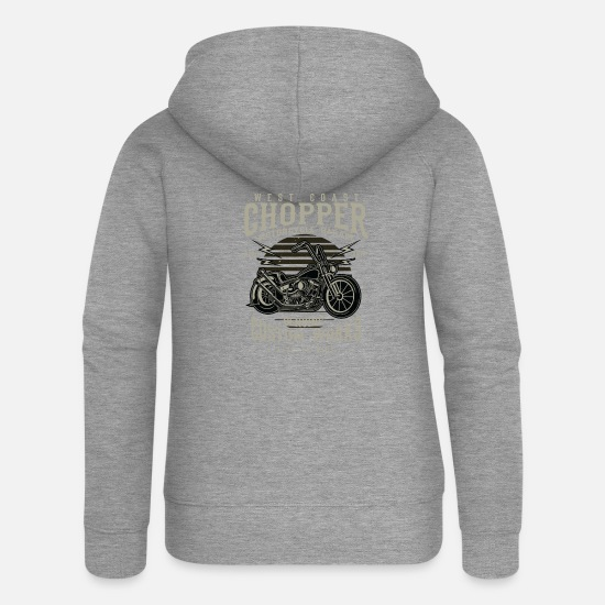 Chopper Hoodies & Sweatshirts - chopper - Women's Premium Zip Hoodie heather grey