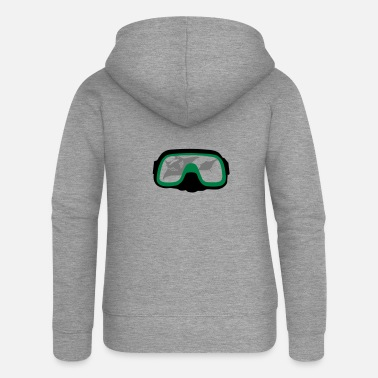 Diving Mask diving Mask - Women's Premium Zip Hoodie