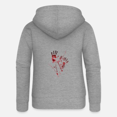 Blood Blood Print - Blood Hands - Blood Splatters - Blood - Women's Premium Zip Hoodie