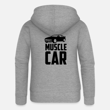 Muscle Car muscle car - Women's Premium Zip Hoodie