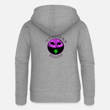 Facemask Yunicorn Designs Logo FaceMask - Women's Premium Zip Hoodie