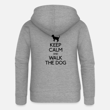 Walk The Dog Keep Calm and walk the dog - Women's Premium Zip Hoodie