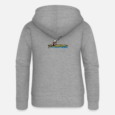 Kayak Kayaking, kayaking - Women's Premium Zip Hoodie