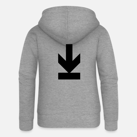 Download Hoodies & Sweatshirts - download - Women's Premium Zip Hoodie heather grey