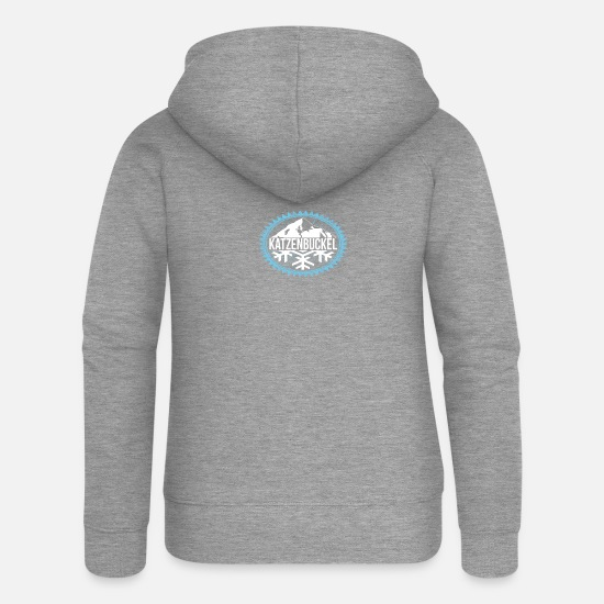 Winter Hoodies & Sweatshirts - KATZENBUCKEL Winter mountains - Women's Premium Zip Hoodie heather grey