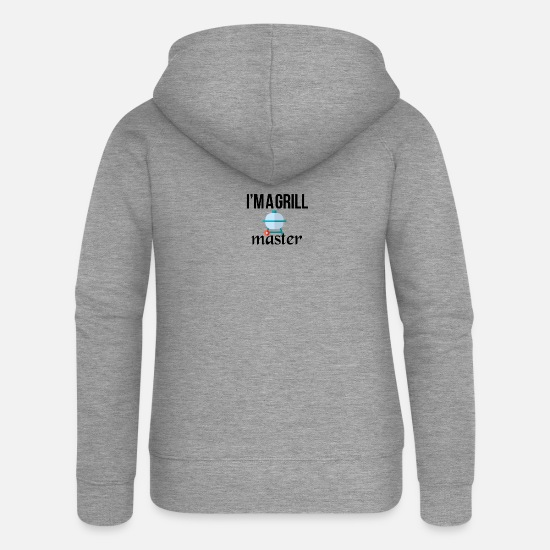 Bbq Hoodies & Sweatshirts - The grillmaster - Women's Premium Zip Hoodie heather grey