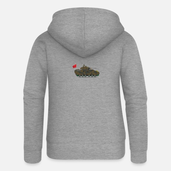 Tank Hoodies & Sweatshirts - tank - Women's Premium Zip Hoodie heather grey