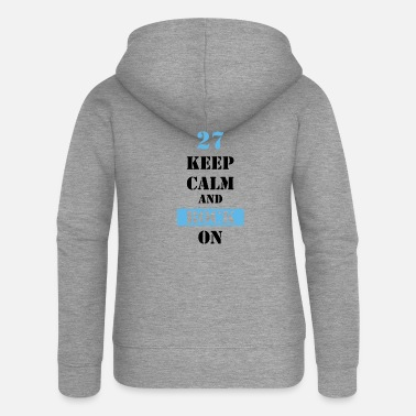 Keep Calm And Rock On 27 Keep calm and rock on - Frauen Premium Kapuzenjacke