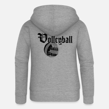 Beachvolleyball Beachvolleyball Volleyball Old Art 2reborn - Frauen Premium Kapuzenjacke