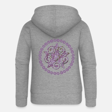 Germanic Tribes celtic knot 20 e 230 - Women's Premium Zip Hoodie