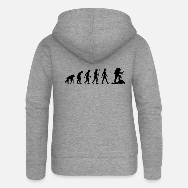 Hiking Evolution Wanderer Mountaineering Mountaineers - Women's Premium Zip Hoodie