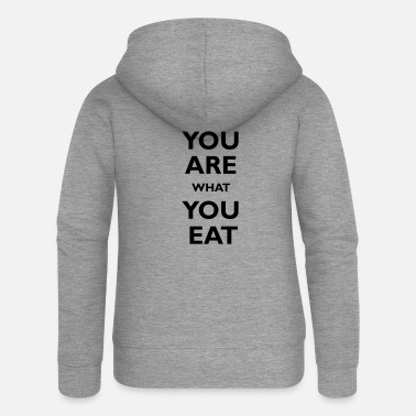 You are what you eat - Premium bluza rozpinana damska z kapturem