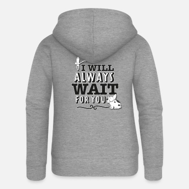 I always want to wait for you - Women's Premium Zip Hoodie