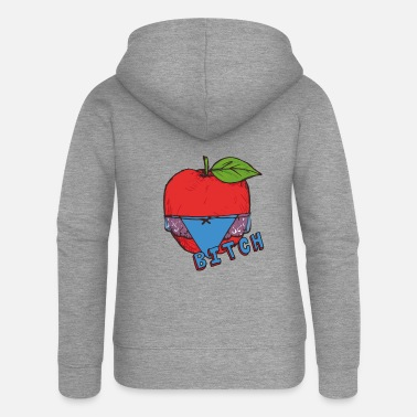 Healthy Underwear Apple Thong Underwear Bitch Funny Sexy - Women's Premium Zip Hoodie