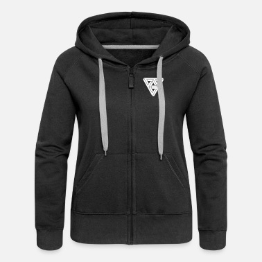 Form &amp Optical illusion Triangle Minimal Shape - Women's Premium Zip Hoodie