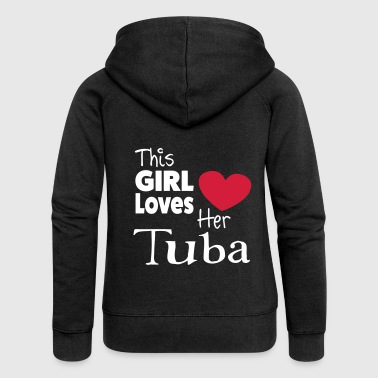 This Girl Loves Her Tuba - Frauen Premium Kapuzenjacke