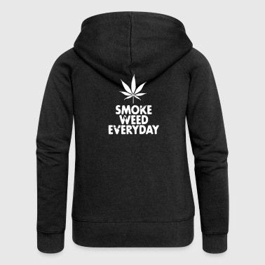 smoke weed everyday leaf - Rozpinana bluza damska z kapturem Premium