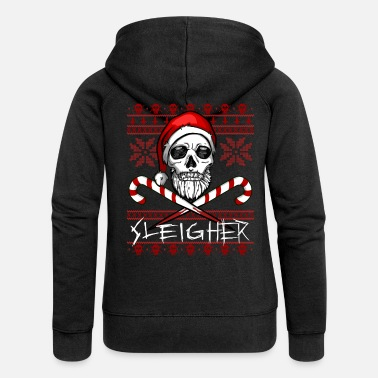 Christmas Sleigher Ugly Christmas Sweater - Felpa con zip premium donna