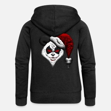 christmas evil christmas panda womens premium hooded jacket - Christmas Jackets