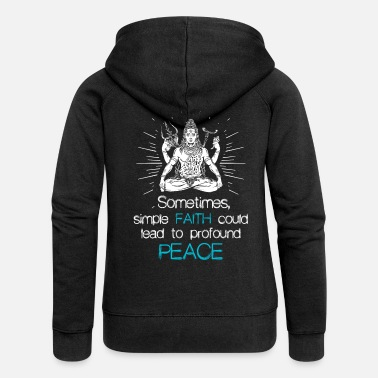 Shiva Shiva faith religion Hindu gift - Women's Premium Hooded Jacket