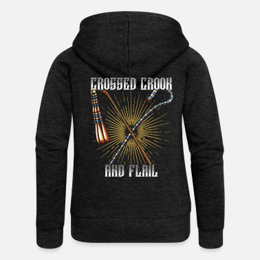 Crook Crook and flagellum - Women's Premium Zip Hoodie