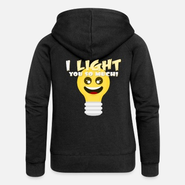 Playing With Words Light word play - Women's Premium Zip Hoodie