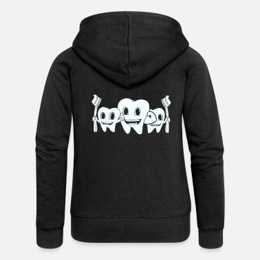 Teeth Teeth toothbrush Teeth wisdom teeth Milk teeth - Women's Premium Zip Hoodie