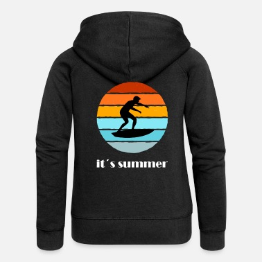 Portugal Surfing Portugal or the Baltic Sea is the most beautiful. - Women's Premium Zip Hoodie