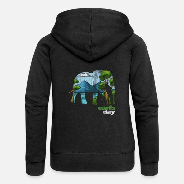 Day Earth Day - Earth Day - Women's Premium Zip Hoodie