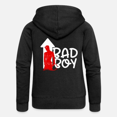 Bad Bad boy - Women's Premium Zip Hoodie