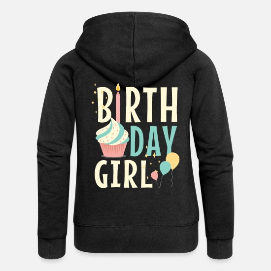 Girl Hoodies & Sweatshirts - Birthday girl - Women's Premium Zip Hoodie black
