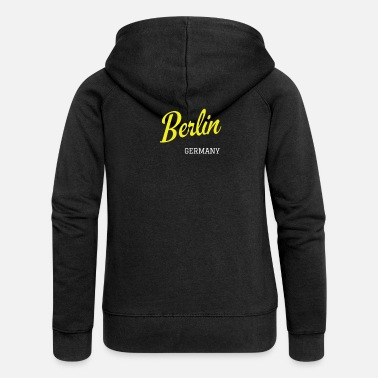 Federal Capital Berlin, Germany - Women's Premium Zip Hoodie