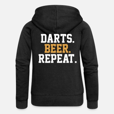 Bar Pub Dart Beer Pub Bar - Women's Premium Zip Hoodie