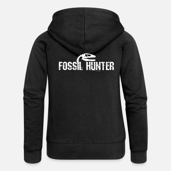 Finds Hoodies & Sweatshirts - Fossil finds - Women's Premium Zip Hoodie black