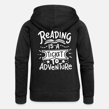 Reading Read Read Read - Women's Premium Zip Hoodie