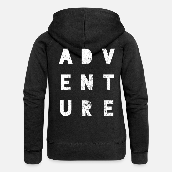 Camper Hoodies & Sweatshirts - adventure - Women's Premium Zip Hoodie black