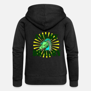 Creature Dragonslayer, dragon, lizard, mythical creature, mythical creature - Women's Premium Zip Hoodie