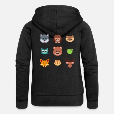 Forest The animals of the forest - Women's Premium Hooded Jacket