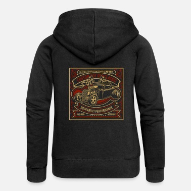 Cars Custom Hot Rod Classic - Women's Premium Zip Hoodie