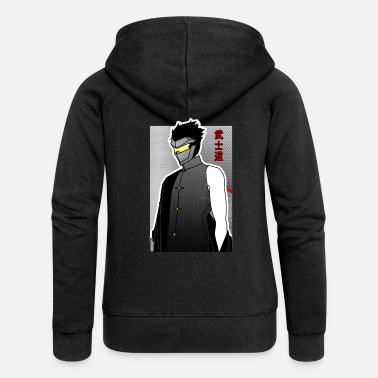 Samurai Warrior Anime - Women's Premium Zip Hoodie