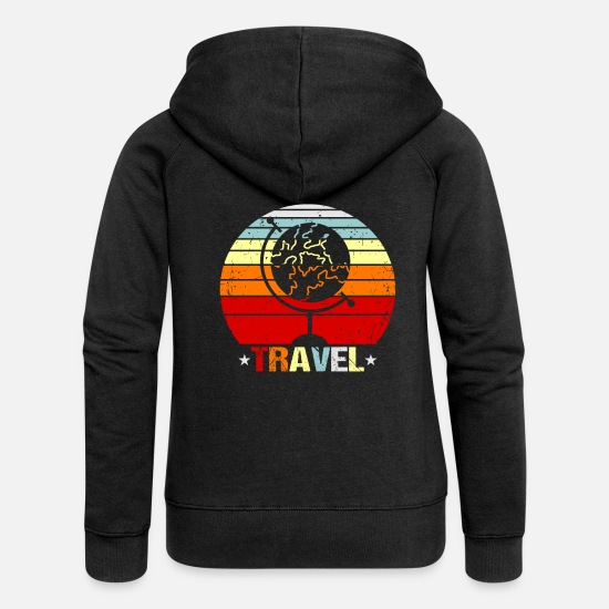 Travel Hoodies & Sweatshirts - Travel traveler gift idea - Women's Premium Zip Hoodie black