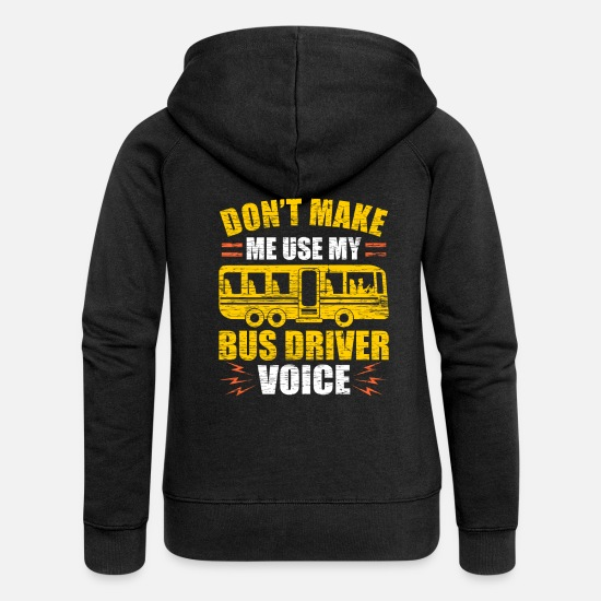 Bus Hoodies & Sweatshirts - bus driver - Women's Premium Zip Hoodie black