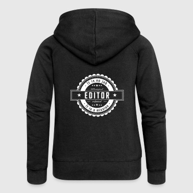EDITOR - Women's Premium Hooded Jacket