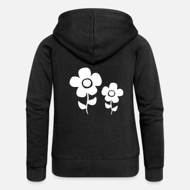 Flower Power White flower power flowers - Women's Premium Hooded Jacket