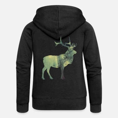 Stag Mystic stag - Women's Premium Hooded Jacket